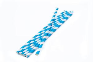 bijelo plave papirnate slamke