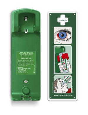 Zidni držač za otopinu za ispiranje oka