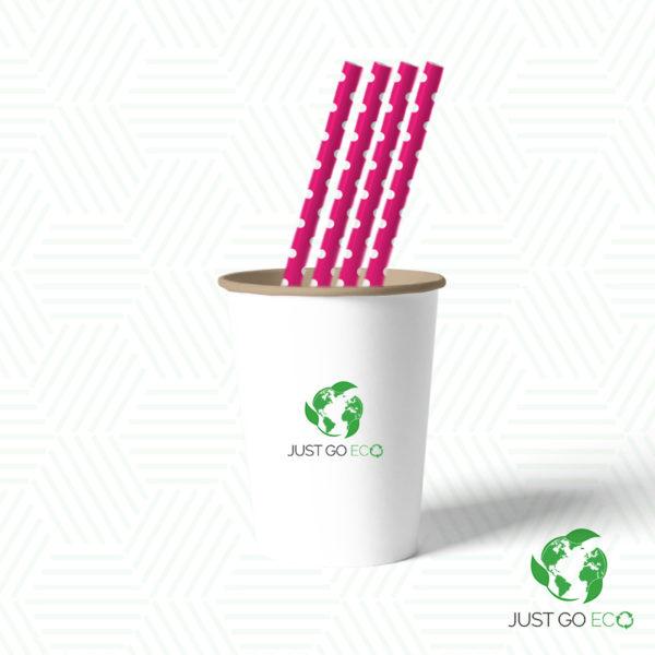 papirnate slamke roze 8x230